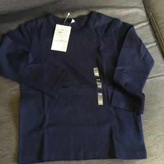 MUJI (無印良品) - 新品 無印ネイビー ロングTシャツ 110サイズ