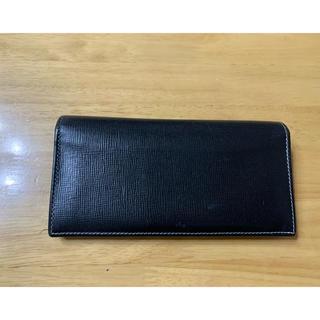 ホワイトハウスコックス(WHITEHOUSE COX)のホワイトハウスコックス 長財布 ロングウォレット 黒×紺色(長財布)