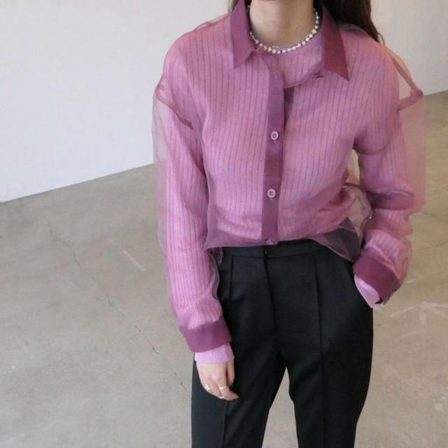 STUDIOUS(ステュディオス)のAKTE シアーシャツ レディースのトップス(シャツ/ブラウス(長袖/七分))の商品写真
