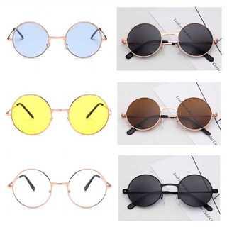 ブラック✨ラウンドメタル型 丸サングラス 丸型 丸メガネ ✨