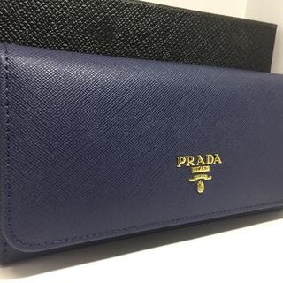PRADA - PRADA プラダ財布 2つ折り ネイビー