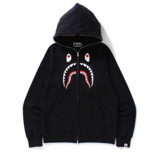 A BATHING APE - BAPE Embroidery Front Shark Hoodie