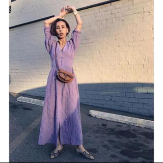 Ameri VINTAGE - MEDI CRUMPLE COTTON LACE DRESS