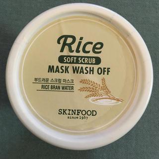 SKIN FOOD - スキンフード ライス マスク ウォッシュオフ ソフトスクラブ skinfood
