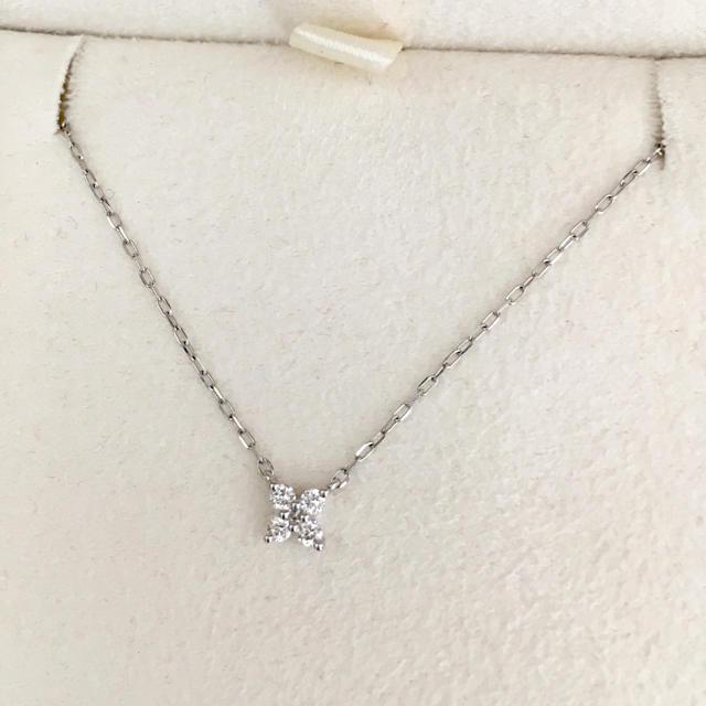 4℃(ヨンドシー)の4℃ ダイヤモンド フラワー ネックレス Pt850 1.4g レディースのアクセサリー(ネックレス)の商品写真