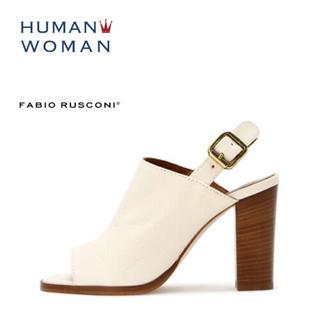 FABIO RUSCONI - 【新品・未使用】FABIO LUSCONI 定価3万円 ヒール 革 23.5cm