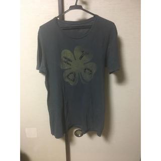エイチティーシーブラック(HTC BLACK)のhtc  スタッズレザークローバープリントTシャツ サイズM チェーンステッチ (Tシャツ/カットソー(半袖/袖なし))