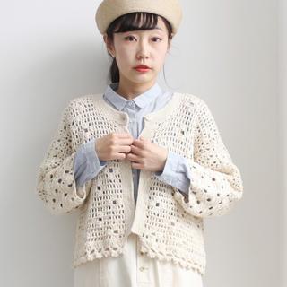 bulle de savon - 《 2020.early spring 》手編み かぎ針カーディガン