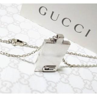 Gucci - 正規品 グッチ Gロゴ立体/Gモチーフ プレートネックレス/ペンダント