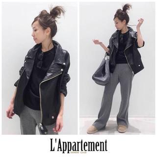 L'Appartement DEUXIEME CLASSE - 【26日限定お値下げ】新品♡アパルトモン♡Lisiere♡ライダースジャケット