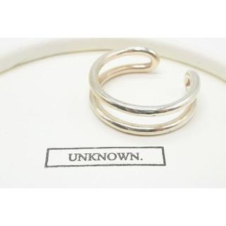 【B238】UNKNOWN. アンノウン シルバー 2連風 リング 指輪 23号(リング(指輪))