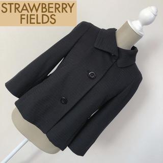 ストロベリーフィールズ(STRAWBERRY-FIELDS)のストロベリーフィールズ ジャケット 黒(テーラードジャケット)
