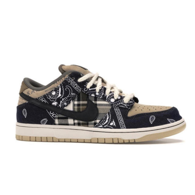 NIKE(ナイキ)のNike sb dunk low qs travis scott 27cm 当選 メンズの靴/シューズ(スニーカー)の商品写真