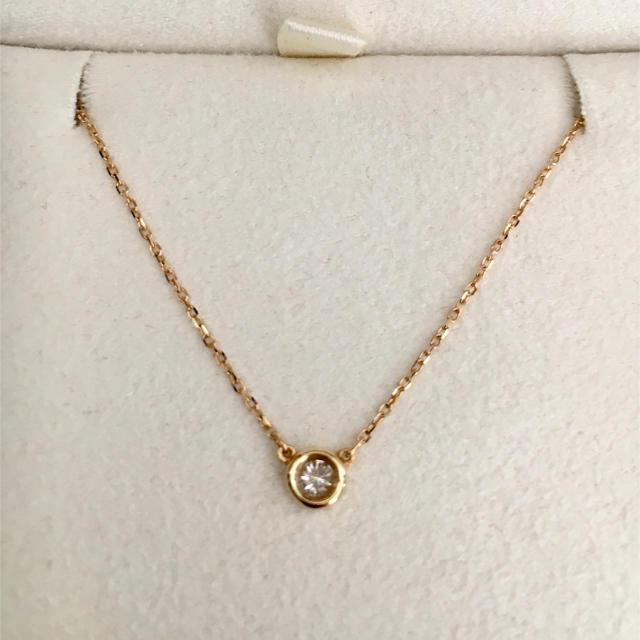 4℃(ヨンドシー)の4℃ ダイヤモンド ネックレス K18YG 0.10ct 1.4g レディースのアクセサリー(ネックレス)の商品写真