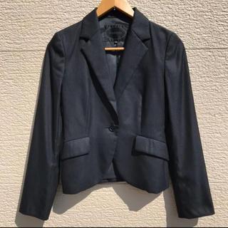 アンタイトル(UNTITLED)のUNTITLED アンタイトル ジャケット 黒 ブラック ストライプ 1(テーラードジャケット)