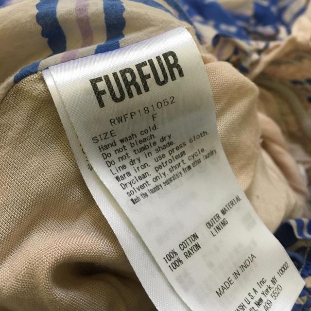 fur fur(ファーファー)のFURFUR ◆オリジナルチェックパンツ ワイドパンツ ファーファー レディースのパンツ(カジュアルパンツ)の商品写真