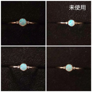 agete - 【未使用】アガット オパール ダイヤモンド リング ダイヤ ダイア