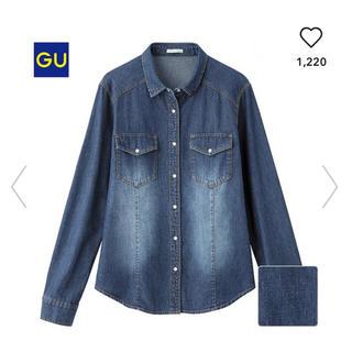GU - デニムシャツ 長袖 GU