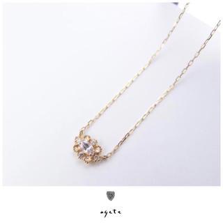 agete - agete♡K18ネックレス♡ホワイトサファイア♡ダイヤモンド♡限定品