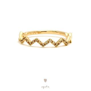 agete - agete♡K10♡ダイヤモンド♡ギザギザリング♡廃盤品