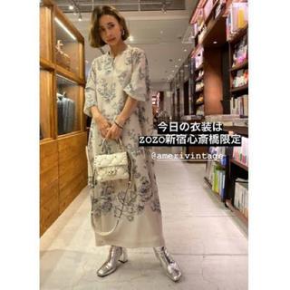 Ameri VINTAGE - 完売商品AMERIアメリ REHEMA KEY NECK DRESS アイボリー