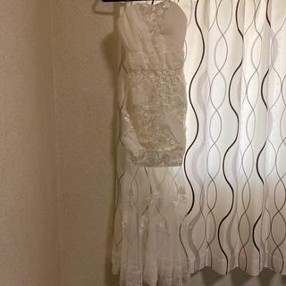 シースルーロングドレス