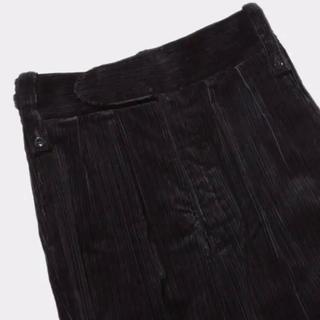 SUNSEA - NEAT Jambo Random Corduroy TAPERED BLACK
