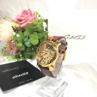 ガガミラノ(GaGa MILANO)のガガミラノ 腕時計 レア ミラー文字盤 美品☆ (腕時計)