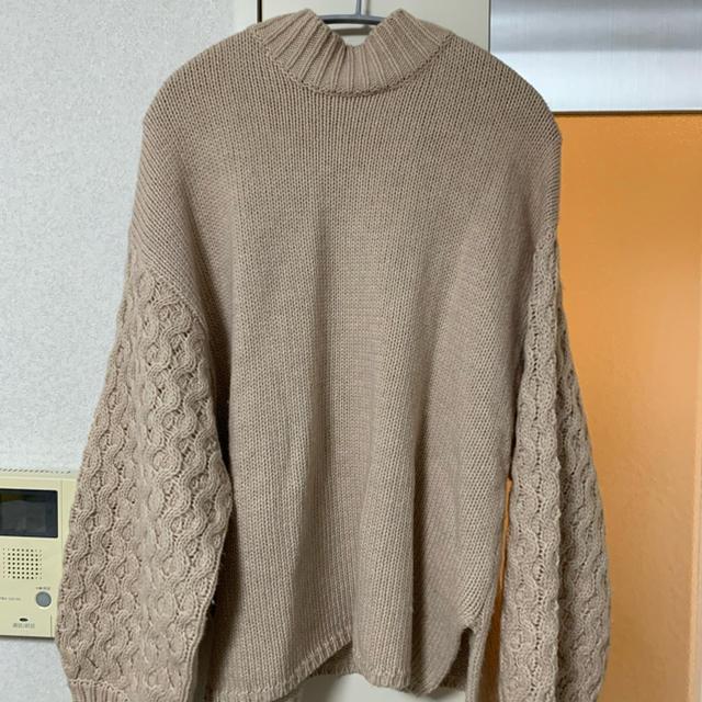 Mila Owen(ミラオーウェン)の袖ボリュームニット レディースのトップス(ニット/セーター)の商品写真