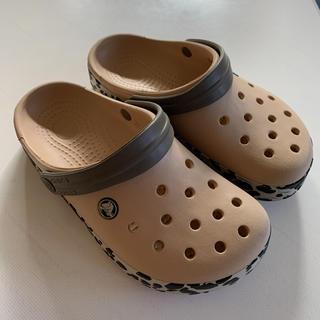 crocs - crocs クロックス サンダル ベージュ/レオパード W 6