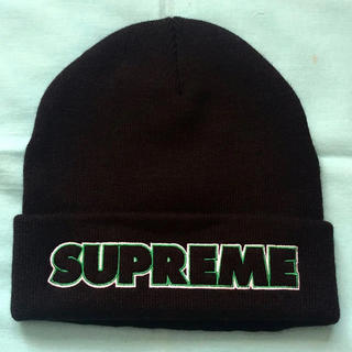 Supreme - 本物正規品 19FW Supreme Outline beanie Black