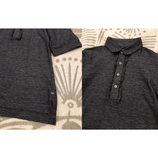 45rpm(フォーティーファイブアールピーエム)の45R コットンリネンデニム天竺プルシャツ レディースのトップス(ポロシャツ)の商品写真