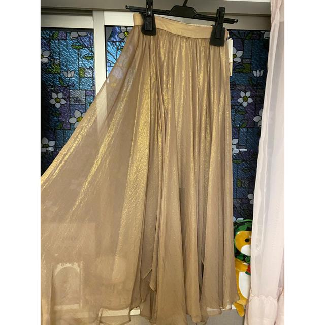 Lily Brown(リリーブラウン)のシースルースカート レディースのスカート(ロングスカート)の商品写真