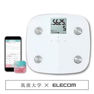 エレコム(ELECOM)のエレコム エクリア 体重・体組成計 50g単位測定 ホワイト HCS-FS01X(体重計/体脂肪計)