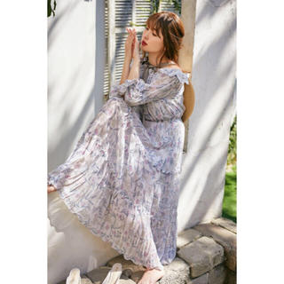 スナイデル(snidel)のherlipto♡dream floral long dress♡(ロングワンピース/マキシワンピース)