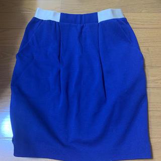 エディション(Edition)のBLANK  あざやかなネイビーのスカート(ひざ丈スカート)