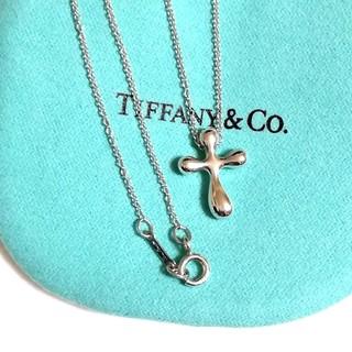 Tiffany & Co. - ティファニークロスネックレス(美品)