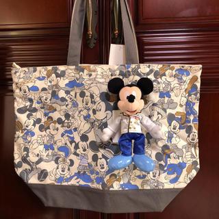 Disney - 2点 ミッキー 総柄トートバッグ ディレクター ぬいば エントランス ディズニー