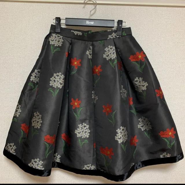 M'S GRACY(エムズグレイシー)のエムズグレイシー スカート 花 38 レディースのスカート(ひざ丈スカート)の商品写真