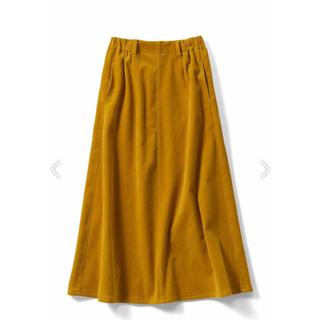 フェリシモ(FELISSIMO)のフェリシモ IDET コーデュロイマキシスカート〈マスタードイエロー〉(ロングスカート)