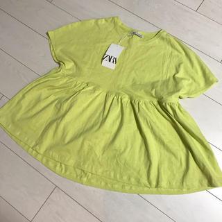 ZARA - 新品 タグつき ザラ ペプラム    Tシャツ