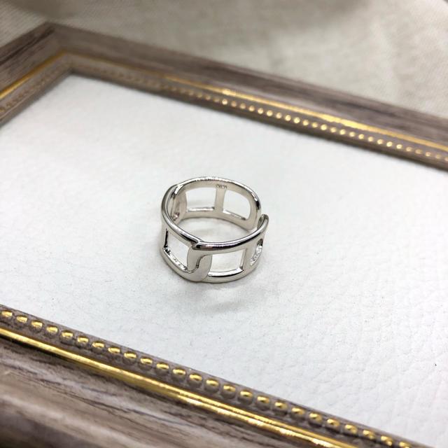 TODAYFUL(トゥデイフル)のN-069 chain design ring silver レディースのアクセサリー(リング(指輪))の商品写真