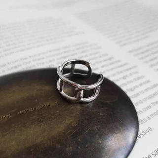 TODAYFUL - N-069 chain design ring silver