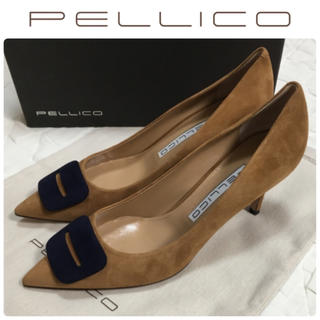 PELLICO - ペリーコ パンプス ANIMA ANELLI FIBBIAスエード 新品24.5
