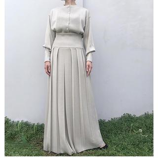 BEAUTY&YOUTH UNITED ARROWS - 新品タグ付き 19AW TAN ボイルドラッププリーツスカート ホワイト