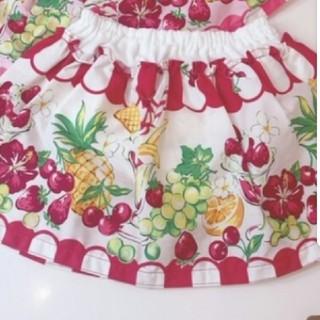 Shirley Temple - 新品 シャーリーテンプル トロピカルフルーツpt スカパン 赤 ベビーフリー