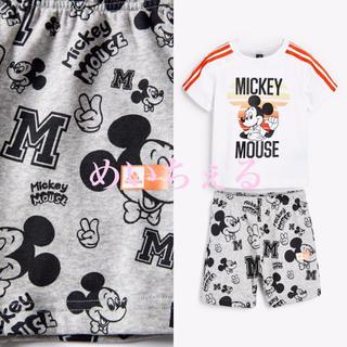 アディダス(adidas)の【新品】Adidas 幼児ホワイト Mickey Mouse セット(ヤンガー)(Tシャツ)