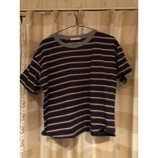 RETRO GIRL - ボーダー Tシャツ
