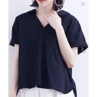 merlot - バックレースアップシャツ