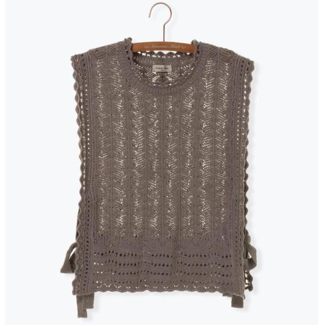SM2(サマンサモスモス)の透かし編みニットベスト レディースのトップス(ニット/セーター)の商品写真